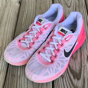 Nike LunarGlide 6. White/Black/hyperPink. Like new